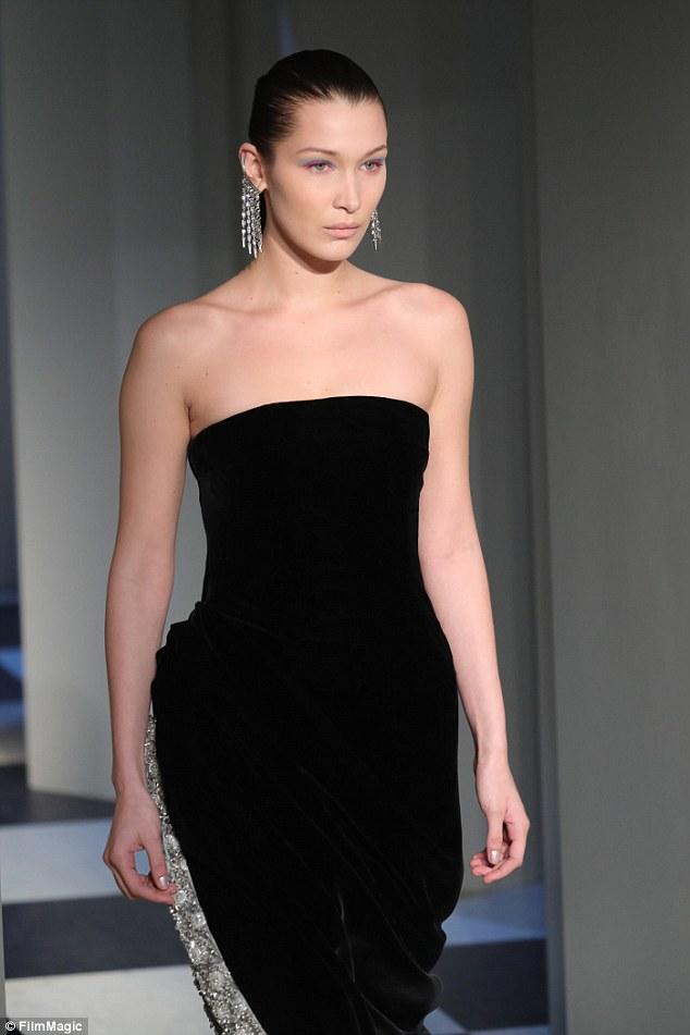 Bella Hadid - Oscar de la Renta NYFW Fall 2017 Runway