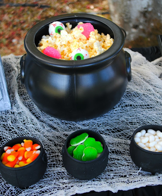 Halloween popcorn dessert bar