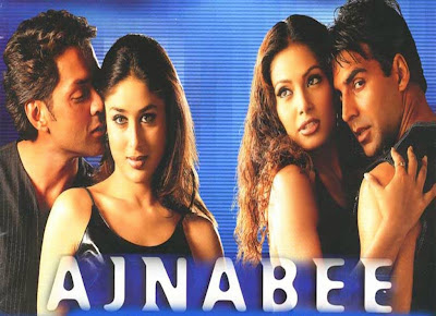 Poster Of Bollywood Movie Ajnabee (2001) 300MB Compressed Small Size Pc Movie Free Download worldfree4u.com