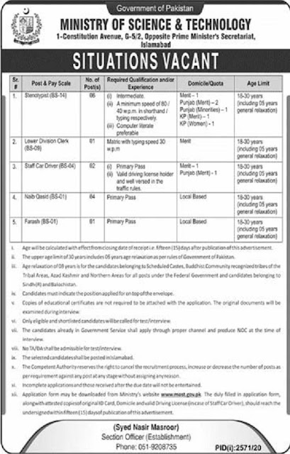 ministry-of-science-technology-most-jobs-2020-application-form