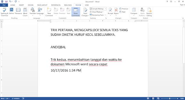 Trik Menggunakan Microsoft Word