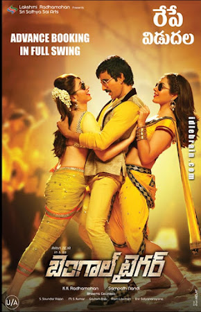 Poster Of Bengal Tiger In Dual Audio Hindi Telugu 300MB Compressed Small Size Pc Movie Free Download Only At worldfree4u.com