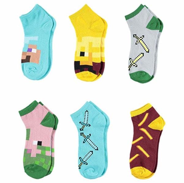 Minecraft Boys Quarter Cut Socks