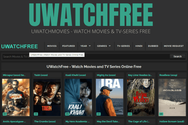 Uwatchmovies 2021 : Download Free illegal Movies website