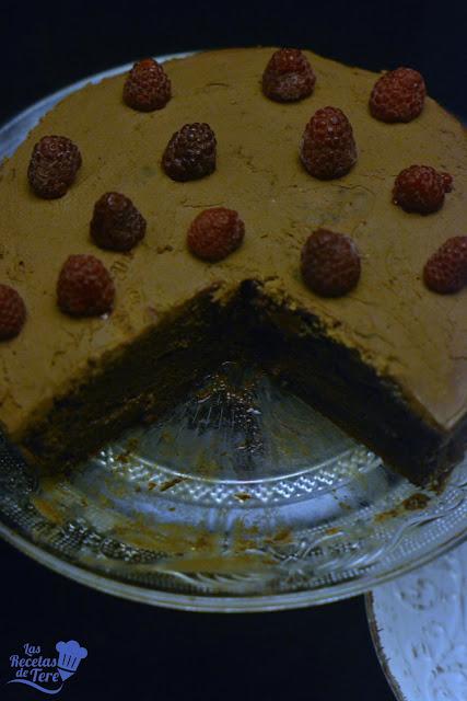 Tarta ràpida de chocolate con frosting de chocolate y queso tererecetas 02