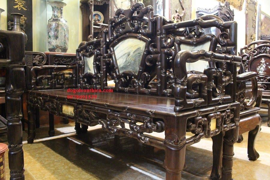 Bộ bàn ghế gỗ trắc cổ đẹp nhất Việt Nam