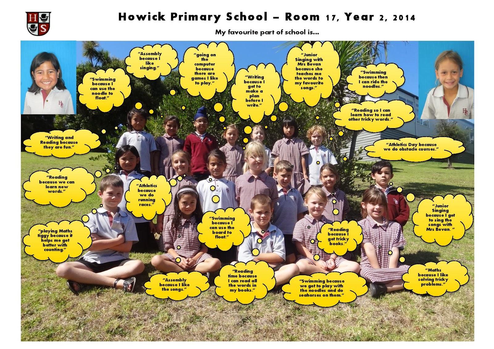 Room 17 Howick Primary School April