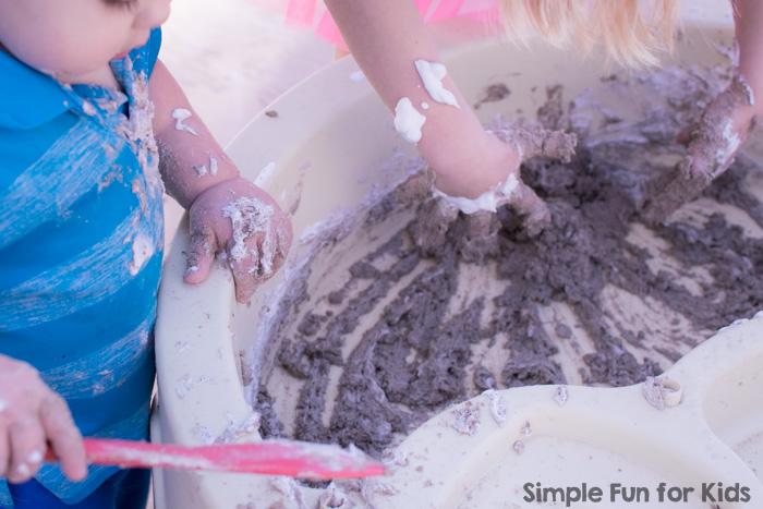 sand foam sensory play - summer camp activities