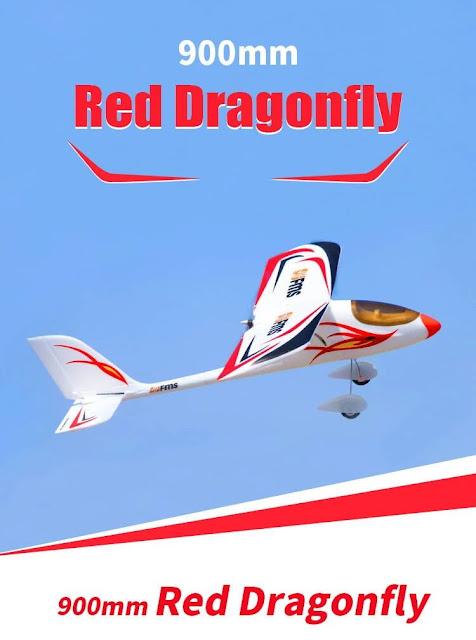 FMS Red Dragonfly 900mm Wingspan EPO 3D Aerobatic RC Airplane Trainer Beginner RTF