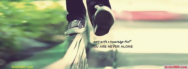 Ảnh bìa Facebook cô đơn, buồn - Alone Cover timeline FB, bước chân lẻ loi
