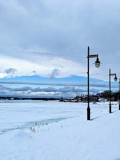 Winter At Sydney Boardwalk, Cape Breton Island