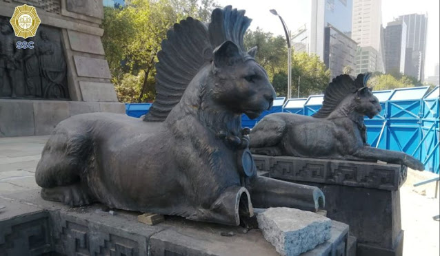 FGR sigue investigando daños al Monumento a Cuauhtémoc: Cultura