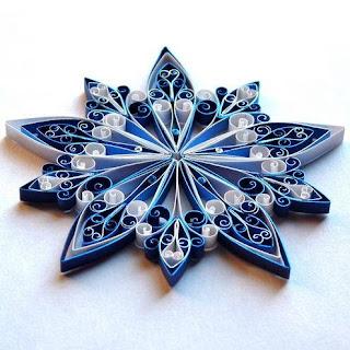 decorazioni di natale stella in quilling