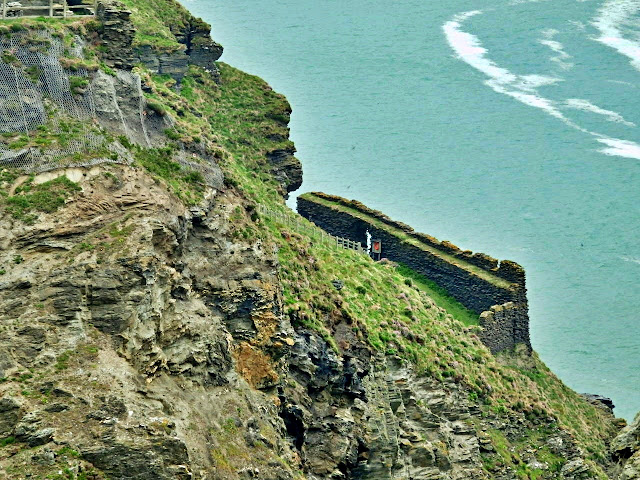 Looking across to parts of King Arthur's Tintagel Castle