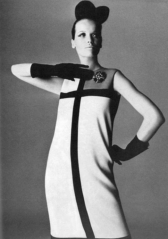 Verushka wearing Yves Saint Laurent in Vogue UK 1965 via www.fashionedbylove.co.uk british fashion blog