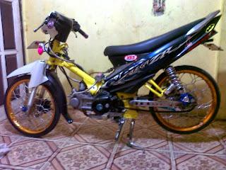 Modifikasi Motor Yamaha Vega Zr Terbaru Foto Dan Gambar Balap Biru Ban Kecil
