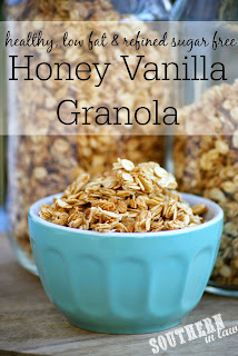Healthy Homemade Honey Vanilla Granola Recipe Low Fat Gluten Free