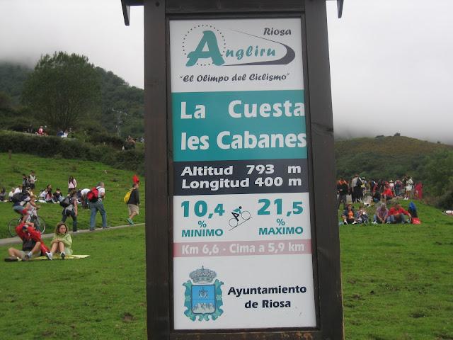 Rutas Montaña Asturias: Cuesta Les Cabanes en la Vuelta a España