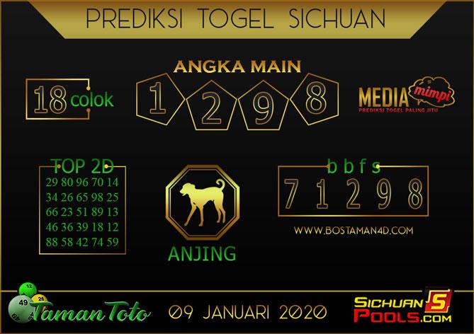 Prediksi Togel SICHUAN TAMAN TOTO 09 JANUARI 2020