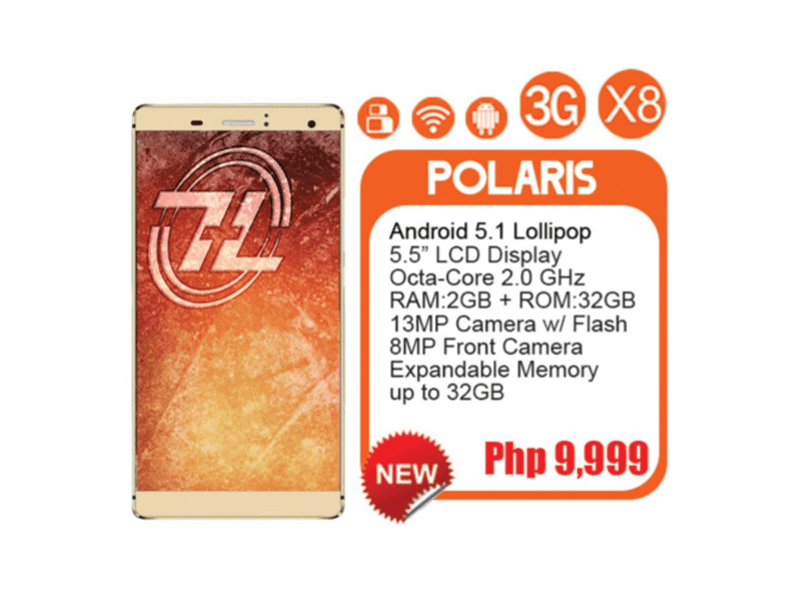 ZH&K POLARIS ANNOUNCED! OCTA CORE BEZEL-LESS 5.5 INCH ANDROID 5.1 FOR JUST 9,999 PESOS!