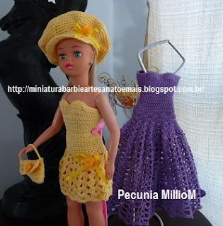 DIY - Roupa de Crochê Para a Susi Antiga Passo a Passo Com Pecunia MillioM 2