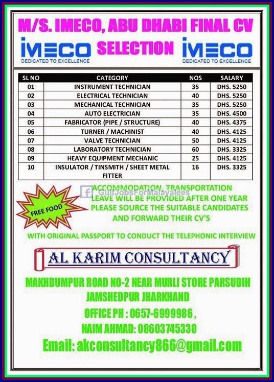abudhabi imeco job vacancies gulf jobs for malayalees