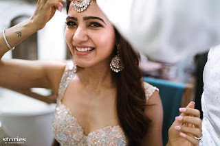 Samantha Ruth Prabhu Marries Chaitanya Wedding Love Pics in Choli Ghagra