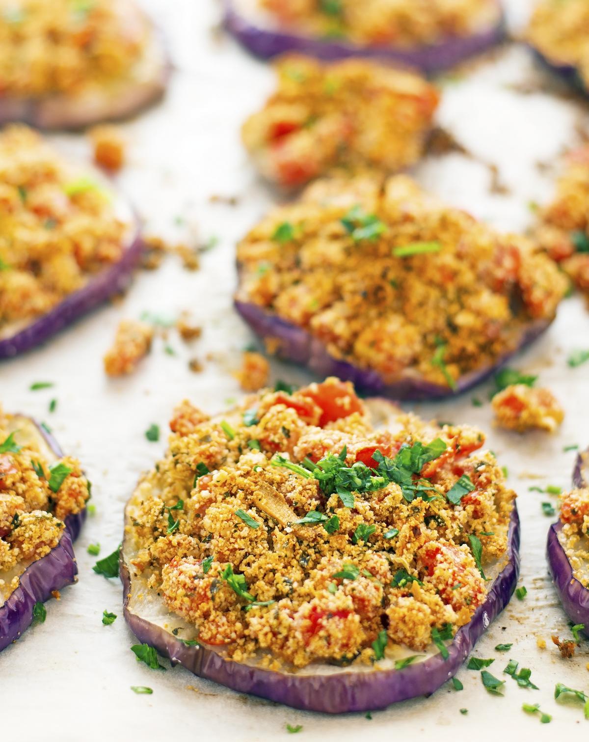 Easy Gratineed Eggplant