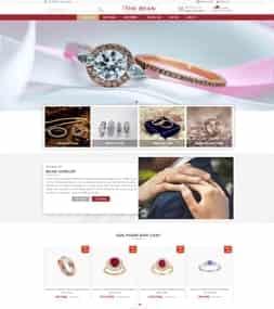 Template blogspot bán hàng trang sức vàng bạc đá quý
