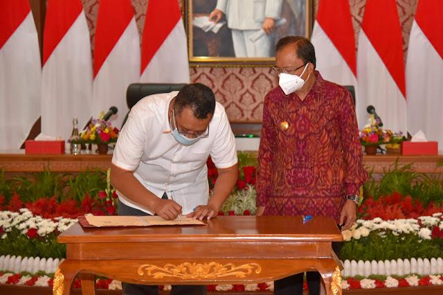 Gubernur NTB dan Bali Tandatangani Perjanjian Kerjasama untuk majukan daerah