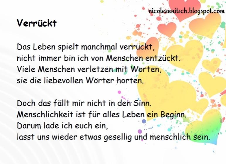 Gedichte Von Nicole Sunitsch Autorin September 2019