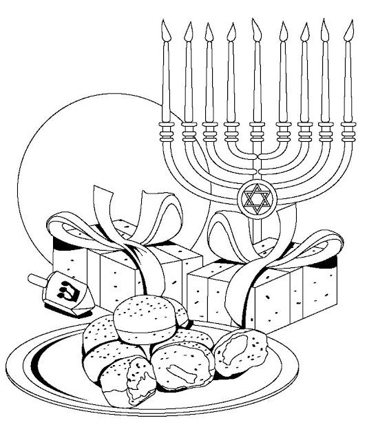 hanukkah coloring pages printable