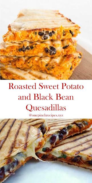 Roasted Sweet Potato and Black Bean Quesadillas