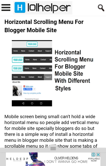 Blogger mobile site