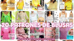 20 Patrones Crochet de Blusas  💗