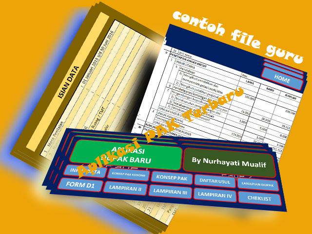 Contoh Aplikasi Dupak Terbaru 2016 Versi Excel Untuk Guru SD/MI,SMP/MTs,SMA/MA Lengkap