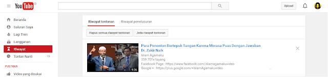Riwayat Tontonan YouTube
