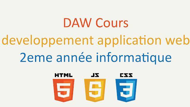 TP DAW (Developpement application web) 2eme année informatique