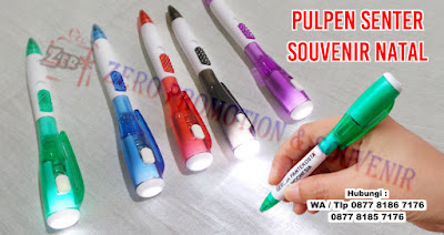 Souvenir Pulpen Senter, Pen Senter Led, pulpen lampu, pulpen multifungsi, souvenir pen 2in1