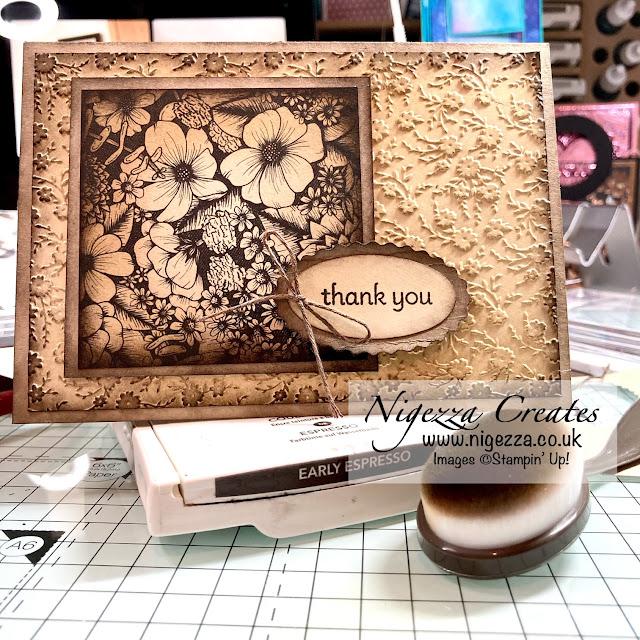 Inky Vintage Card