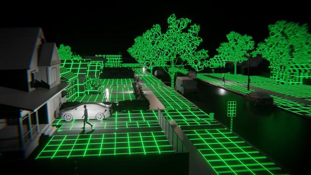 Digital rendering of a virtual city