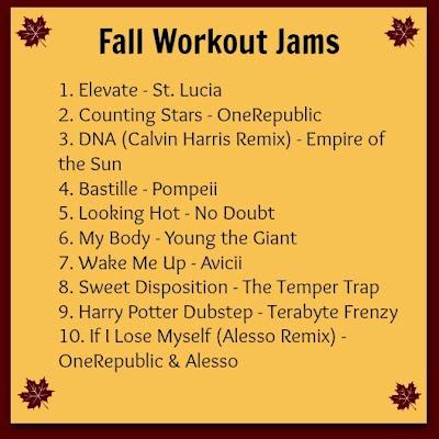 fall workout jams