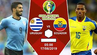ملخص و أهداف مباراة الاوروغواي ضد الاكوادور مباشرة اليوم في كوبا امريكا