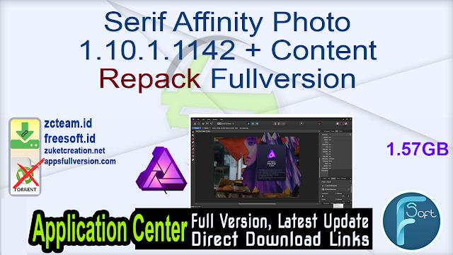 Serif Affinity Photo 1.10.1.1142 + Content [Repack] Fullversion