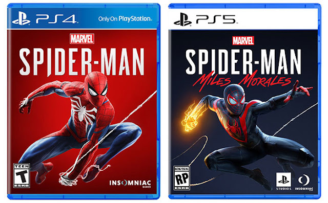 The new design of physical game boxes for Sony PS5