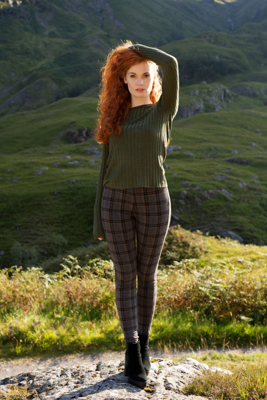 30 Stunning Pictures From All Over The World That Prove The Unique Beauty Of Redheads - Kirstie In The Scottish Highlands Of Glencoe