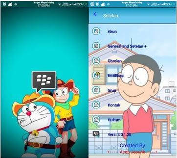 BBM MOD Tema Doraemon Transparant V3.0.1.25