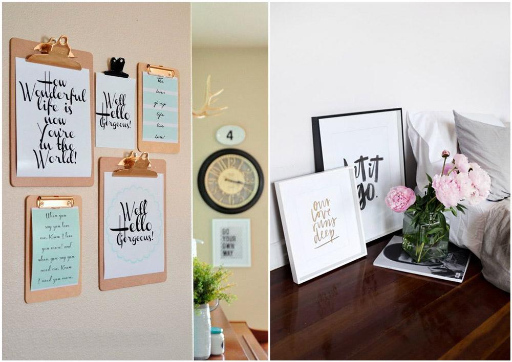 Se llama estilo animar las paredes con lettering for Laminas para paredes interiores