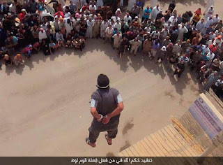 Murder of a gay man by ISIS in front of a baying crowd