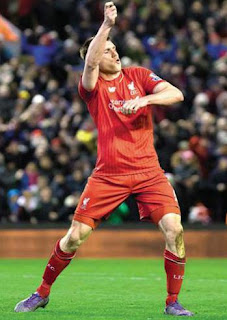 James Milner Celebrates A Goal